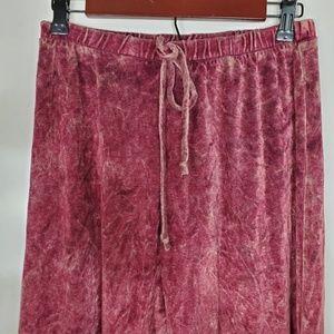Pinkblush Pants - [Pink Blush] Crushed Velvet Lounge Pants